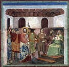 Giotto Scrovegni 32 Christ before Caiaphas. Giotto, Di Bondone.